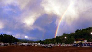 Clouds Rainbows and Rodeos by jltrafton