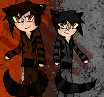 Human Tigerstar and Darkstripe by TheSlendermanIsHere