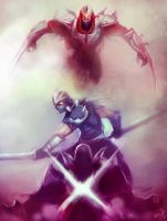 League of Legends Rivals: Shen vs Zed by AthavanArt