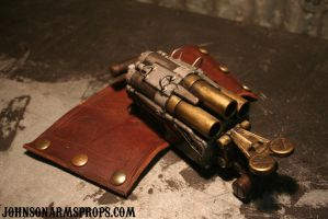 Steampunk Wrist Canon - Photo 2 by JohnsonArms