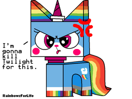 RainbowDash as a Unikitty by RainbowzForLife