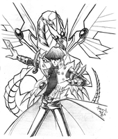 Kaiba and Monster by Riomak