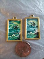 Two highwaymen style florida beach scene pendents by twyliteskyz