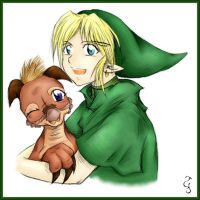 Link and Volvagia: Friends by Fenrisfang