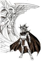 Atem and Horakhty by StEML