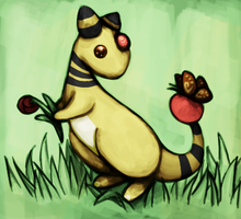 181 - Ampharos by Byscutte
