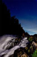 Waterfall under the stars by DeingeL