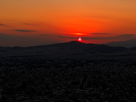 Greece -40- : Sunset -5- by IoannisCleary