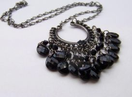 Black Cluster Necklace by ms-pen