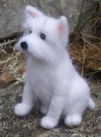 Teddy the needle felted Scottie by Shoshannah84