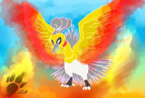 The Almighty Shinning Ho-Oh by TheBlazingK
