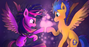 Twilight and Flash by mugg1991