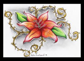 Lily Tattoo Design by SketchbookFlavor