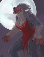 Digital Painting: She-wolf by LudoMercier