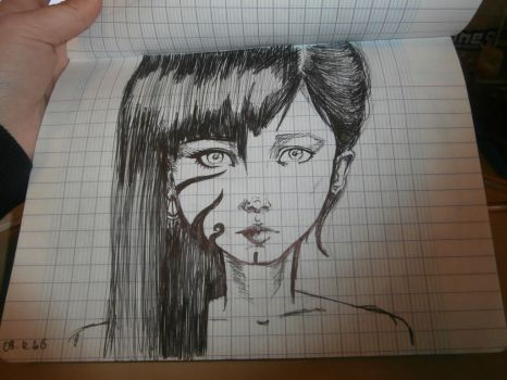 Two faces, one girl by Ametiste