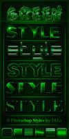 Green Styles for Photoshop by DiZa-74