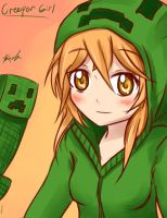 Minecraft Creeper Girl by Kxela
