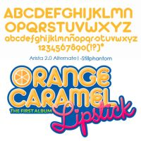 Orange Caramel Lipstick   Font by StillPhantom