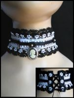 corset cameo choker by trich