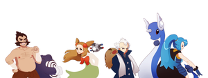 Johto Leaders 5-8 by tabby-like-a-cat