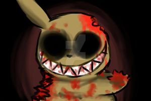 Creepiest Pikachu ever by St3ffimon