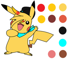 Flame the Pikachu Ref by InsaneVaporeon