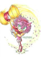 Amy fly into a rage by Pichu-Chan