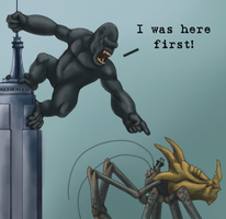 MH and King Kong Crossover by Rikku2007