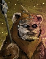 Ewok by Spidertof