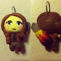 Katniss Everdeen - The Chibi on Fire by queen-of-muchness