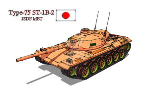 Type-75 ST-1B Final Model Japanese MBT (Fictional) by Scryer117