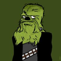 Daily Doodle 003 - FrankenWookiee by striffle