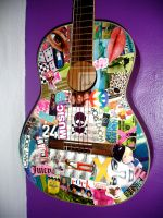 Decoupage- Acoustic Guitar by cantstopwontstop24