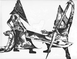 Pyramid Heads by Spiraled-Jester