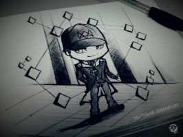 Aiden Pearce chibi by Rofer96