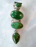 GREEN ROYSTON TURQUOISE PENDENT. by FlagstaffTraders
