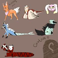 Adoptables 1 :CLOSED: by XshewolfsamX