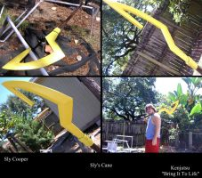 Sly's Cane from Sly Cooper (costume prop) by Minatek616