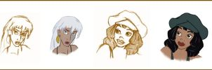 Atlantis Characters by Irise