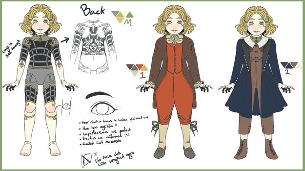 Hadaly (OC) Reference Sheet by Evening-Trash