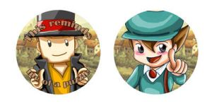 Buttons :: Professor Layton by khiro