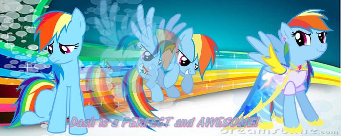 Wallpaper Rainbow Dash by mylittlefan