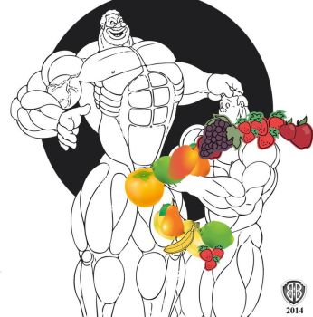 A helping hand with fruit by Blathering