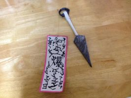 Naruto Kunai/Paper Bomb by soulmasterpisces