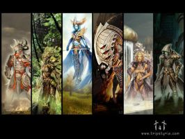 Guild Wars - Gods by Nikademo
