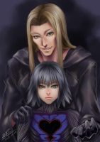 Vexen and Replica by LilyF