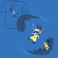 Woot Shirt - Otters Are Jerks by fablefire