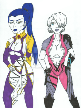 Outfit Swap :Ivy Valentine and Widowmaker: by wolf749