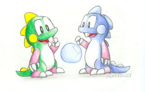 Bubble Bobble by murkrowzy