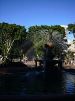 Rainbow in the Fountain by PrinceLink